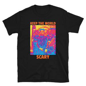 Keep The World Scary Trump Kim Putin Atomic Funny Short-Sleeve Unisex T-Shirt