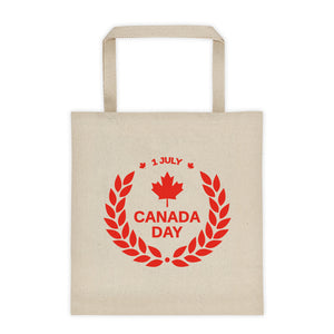 Canada Day 1st of July, 12 Ounce Cotton Canvas Tote Bag