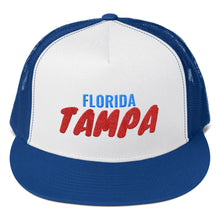 Load image into Gallery viewer, Tampa Florida Text, Trucker Cap