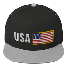 Load image into Gallery viewer, US Flag Team USA Support, Flat Bill Snapback Hat