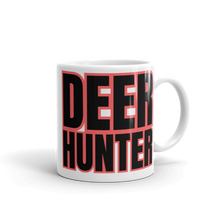 Load image into Gallery viewer, Deer Hunter Text, White Glossy Coffee Mug
