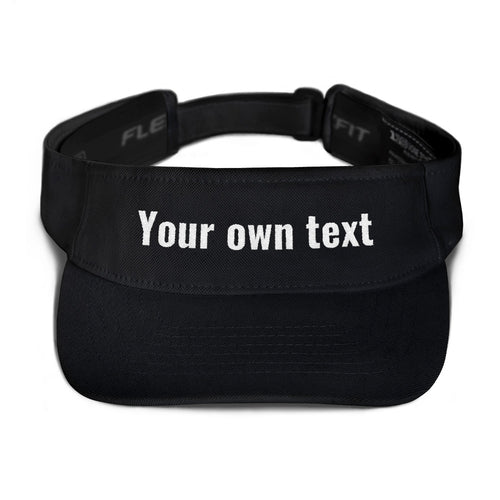 Design Your Own Custom Text, Embroidered Visor