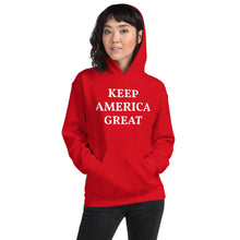 Load image into Gallery viewer, Keep America Great Women's Hoodie Red