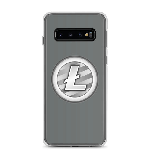 Litecoin Cryptocurrency Logo, Samsung Galaxy Case Gray