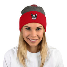 Load image into Gallery viewer, French Bulldog, Unisex Pom-Pom Beanie