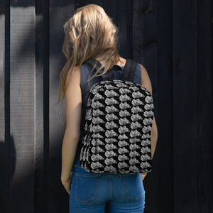 Betta Splendens Fighting Fish Pattern Backpack Black