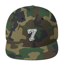 Load image into Gallery viewer, Number 7 Font 2 Partial 3D puff, Snapback Hat CAMO