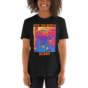 Keep The World Scary Trump Kim Putin Atomic Funny, Short-Sleeve Unisex T-Shirt