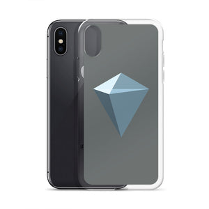 KuCoin Shares KCS Logo Symbol, iPhone Case Gray
