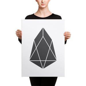 EOS Crypto Currency Logo, Canvas Wall Art