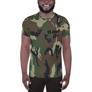 US Army Sergeant First Class, Men's Athletic T-shirt Green Camo