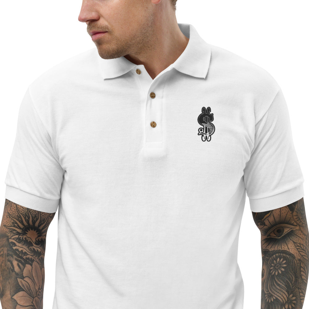 Dollar Sign, Embroidered Classic Polos