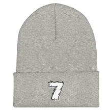 Load image into Gallery viewer, Lucky Number 7 Font 1, Unisex Cuffed Beanie