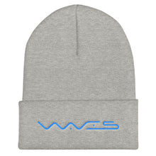 Load image into Gallery viewer, Waves Cryptocurrency Logo Text, Unisex Cuffed Beanie