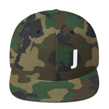 Load image into Gallery viewer, Alphabet Letter J, Snapback Hat Camouflage