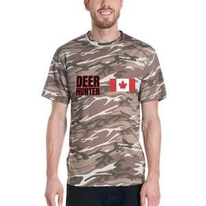 deer hunter camo tee canada flag