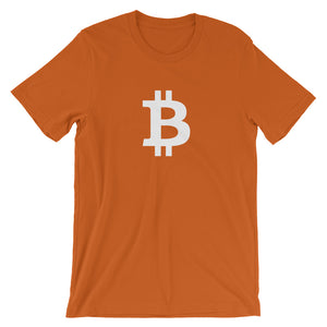 In Bitcoin We Trust White, Short-Sleeve Unisex T-Shirt
