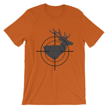 Load image into Gallery viewer, Crosshair on Deer Silhouette, Short-Sleeve Unisex T-Shirt