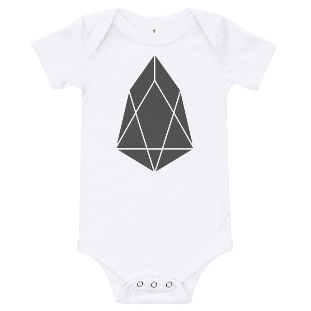 EOS Crypto Currency Logo, Baby Bodysuit