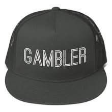 Load image into Gallery viewer, Gambler Text, Classic Trucker Cap