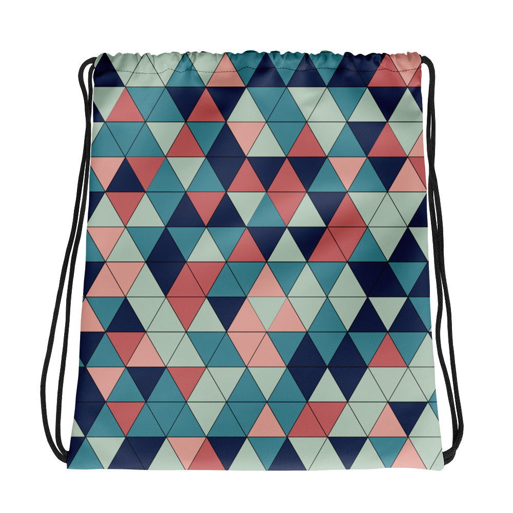 Multicolor Triangle Pattern, Drawstring bag