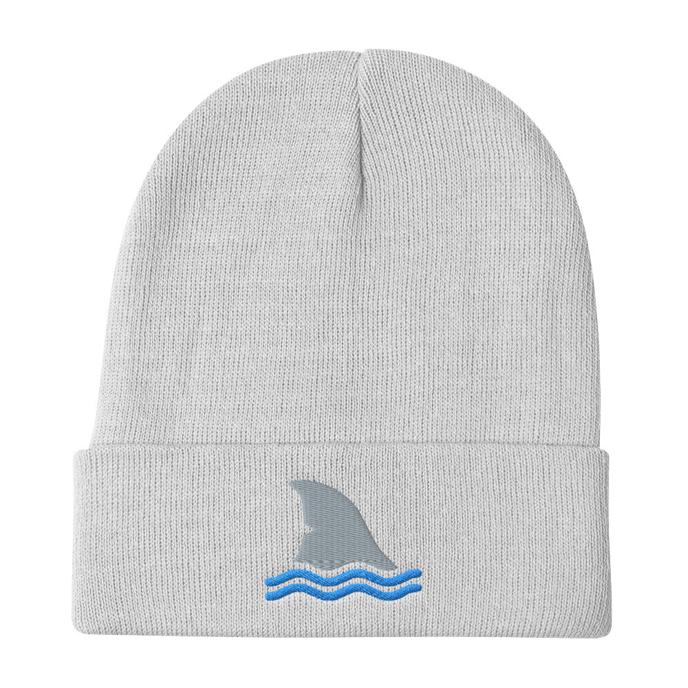 Shark Fin, Embroidered Beanie