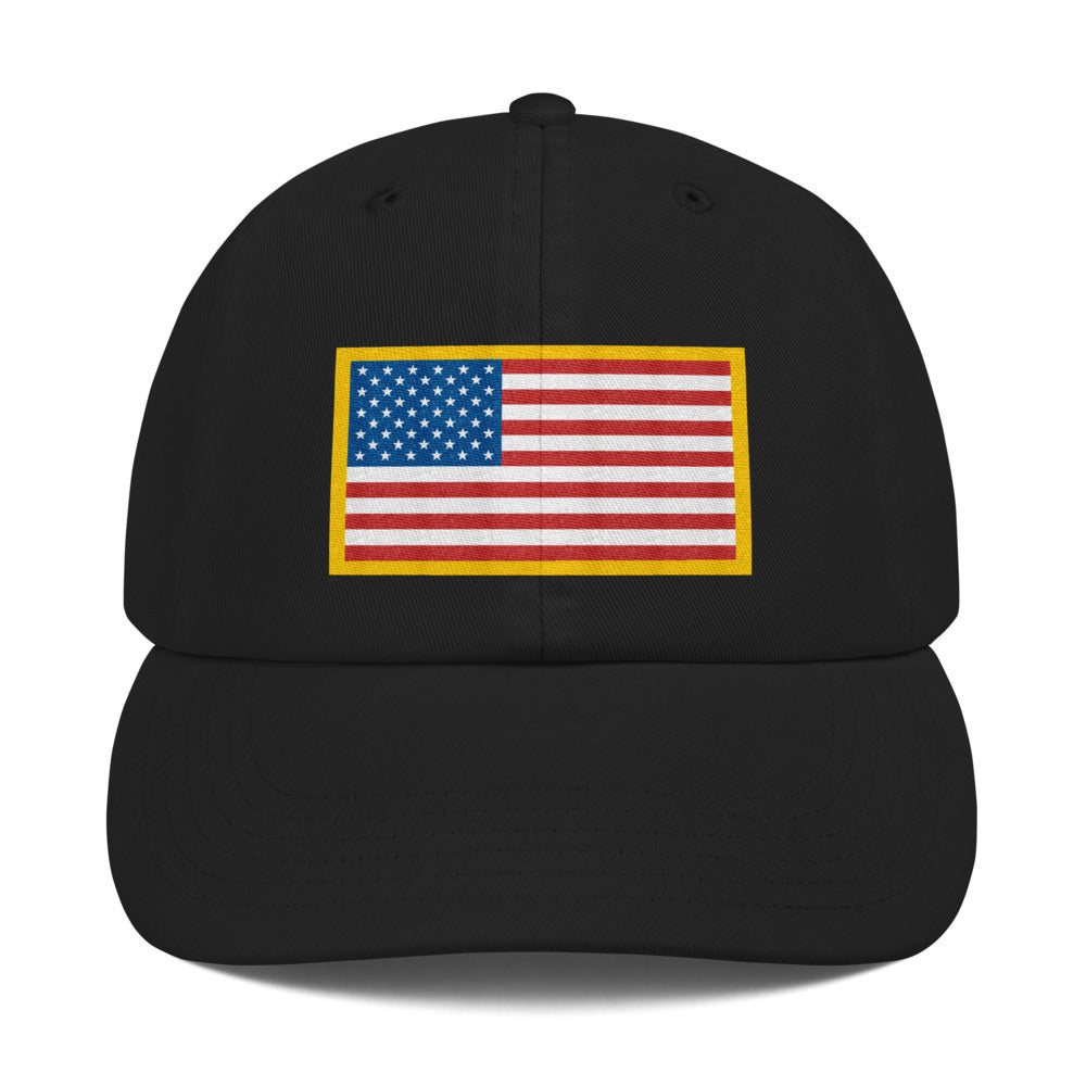 US Flag Patch Style Wit USA Text, Dad Hat