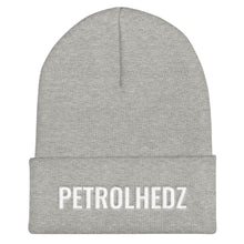 Load image into Gallery viewer, Petrolheadz Text White, Unisex Cuffed Beanie