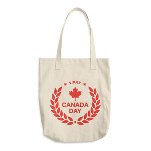 Canada Day 1st of July, Denim Woven Cotton Tote Bag