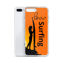 Load image into Gallery viewer, Surfer Babe With Love Surfing Text, iPhone 6-XSmax Case