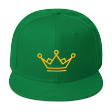 Load image into Gallery viewer, Crown Gold 3D Puff, Classic Snapback Hat