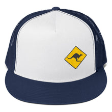Load image into Gallery viewer, Kangaroo Australian Road Sign, Classic Trucker Cap