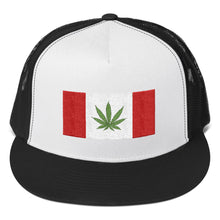 Load image into Gallery viewer, Canada Flag With Cannabis Leaf, Trucker Cap