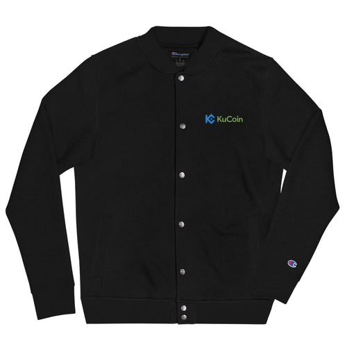 KuCoin Cryptocurrency Exchange Logo Men's Embroidered Champion Bomber Jacket