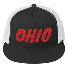 Load image into Gallery viewer, Ohio Text Red, Trucker Cap