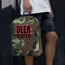 Load image into Gallery viewer, Deer Hunter Text Camo Pattern Print, Backpack
