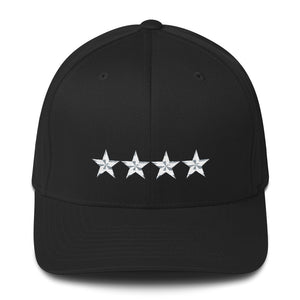 Army Style 4 Star General, Structured Twill Cap