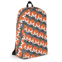 Load image into Gallery viewer, Monero Cryptocurrency Logo Pattern, Backpack Gray
