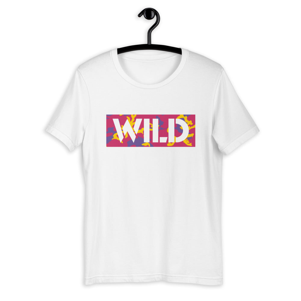 WILD Text Atomic Camo Women's Short-Sleeve T-Shirt