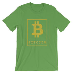 Bitcoin BTC Cryptocurrency Poster Gold, Short-sleeve Unisex T-shirt