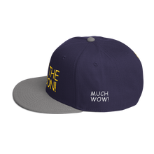 Load image into Gallery viewer, To The Moon! Text 3D Puff With Dogecoin Symbols, Snapback Hat