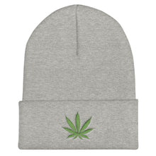 Load image into Gallery viewer, Cannabis Leaf Green, Unisex Cuffed Beanie