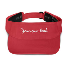 Load image into Gallery viewer, Design Your Own Custom Text 2, Embroidered Visor