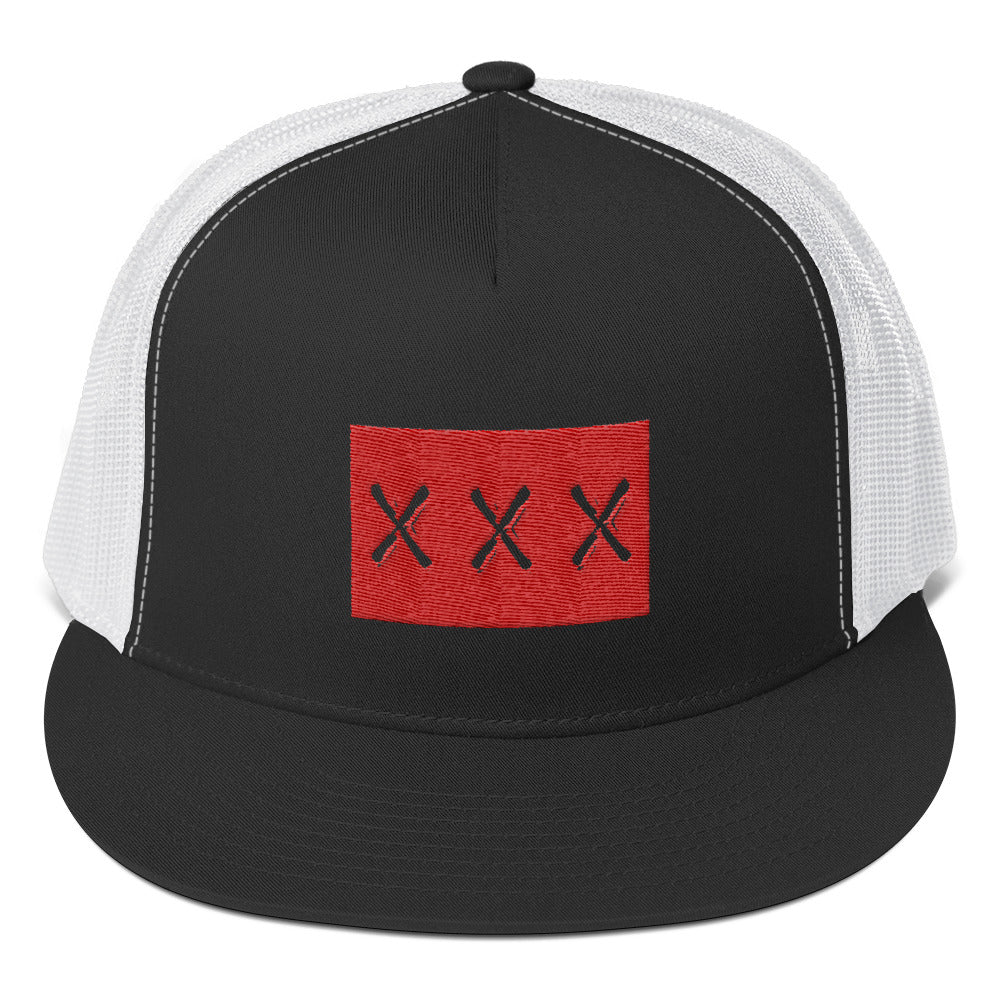 XXX Text on Red, Classic Trucker Cap