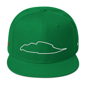 Montreal Canada Circuit Gilles Villeneuve Track Map 3D Puff, Snapback Hat