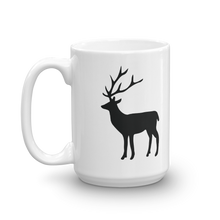 Load image into Gallery viewer, Deer Silhouette, White Glossy Coffee Mug