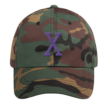 Load image into Gallery viewer, Malcom Purple Letter X Flat Embroidery, Dad hat