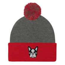 Load image into Gallery viewer, French Bulldog Unisex Pom-Pom Beanie