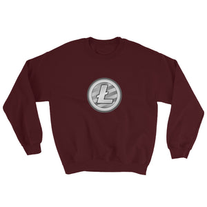 Litecoin Cryptocurrency Logo, Unisex Sweatshirt