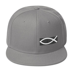Christian Symbol Ichthys Fish Partial 3D Puff Embroidery, Snapback Hat